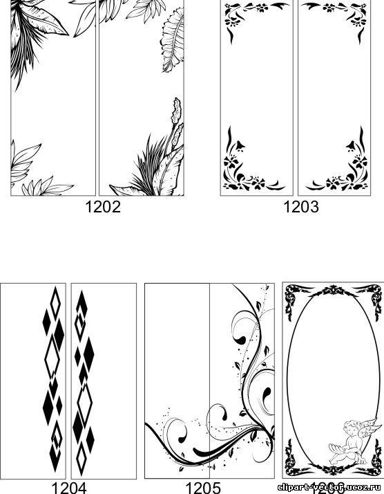 Шаблоны зеркал с рисунком